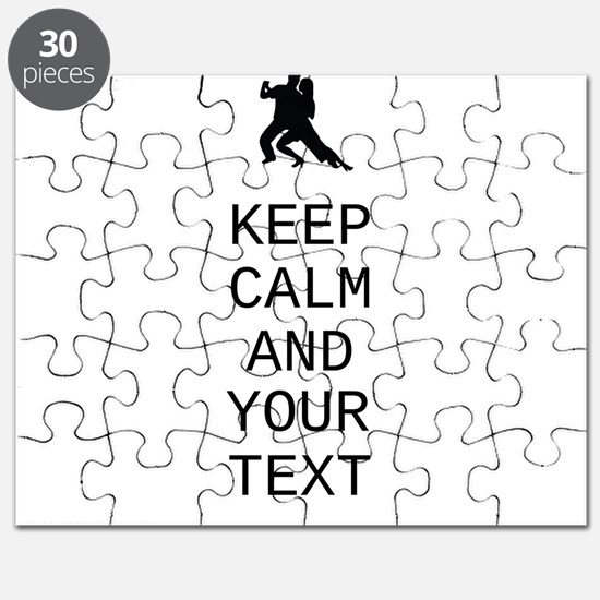 Keep Calm Dance Couple - Customize Puzzle