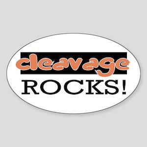 Cleavage Rocks! Oval Sticker