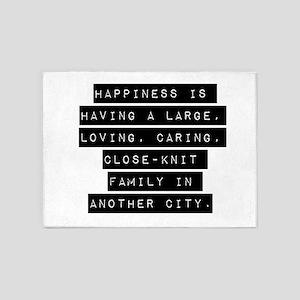 Happiness Is Having 5'x7'Area Rug