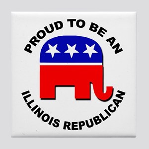 Proud Illinois Republican Tile Coaster