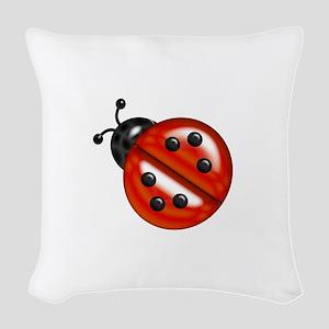 Cute Ladybug Woven Throw Pillow