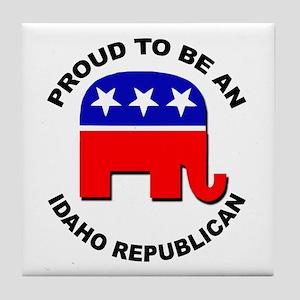 Proud Idaho Republican Tile Coaster