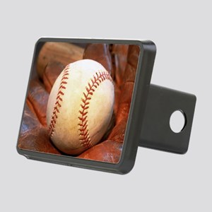 Baseball and glove Hitch Cover