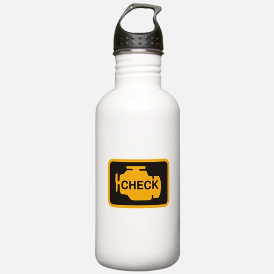 Check Engine Light Water Bottle