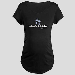 WHAT'S KICKIN' (boy) - Maternity Dark T-Shirt