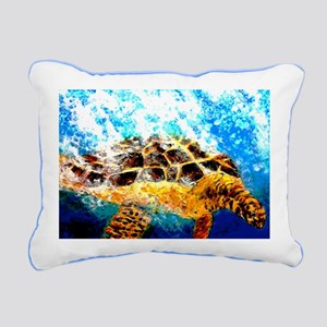 """Splash The Sea Turtle"" Rectangular Canv"
