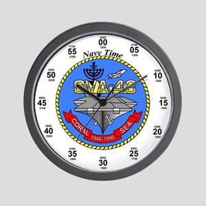 USS Coral Sea CVA-43 Wall Clock