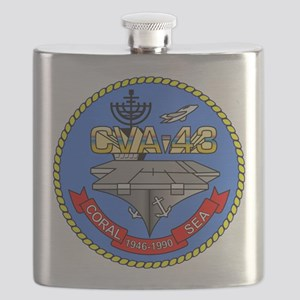 USS Coral Sea CVA-43 Flask