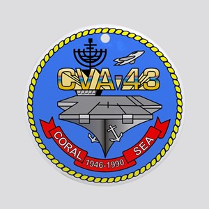 Uss Coral Sea Cva-43 Ornament (round)