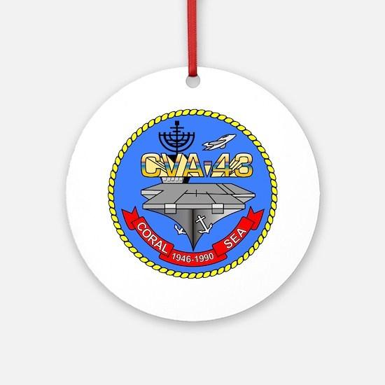 Uss Coral Sea Cva-43 Ornament (round)