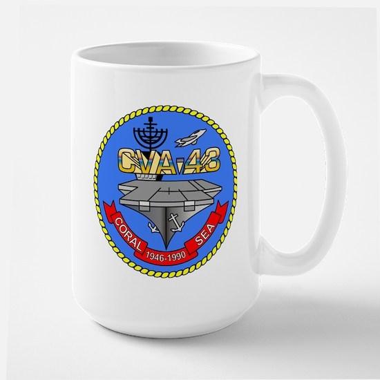 Uss Coral Sea Cva-43 Large Mugs