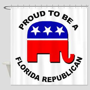 Proud Florida Republican Shower Curtain