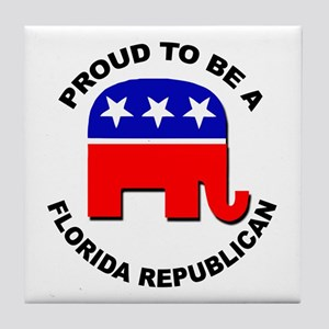Proud Florida Republican Tile Coaster