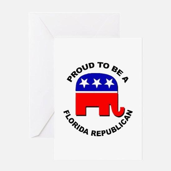 Proud Florida Republican Greeting Card
