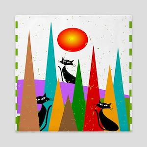 Whimsical Cats Queen Duvet