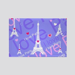 Girly I LOVE PARIS Magnets