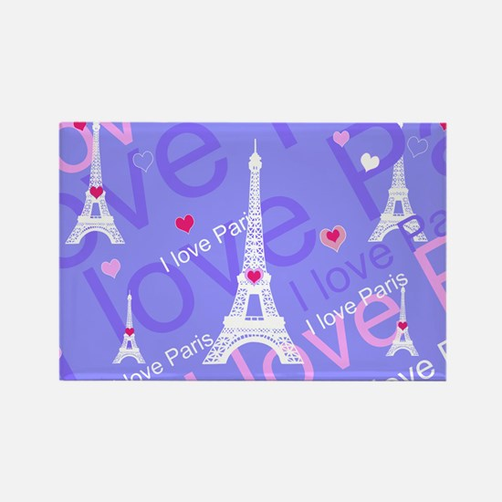Girly I LOVE PARIS Magnets