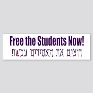 Free the Students! Sticker (Bumper)