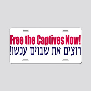 Free the Captives! Aluminum License Plate
