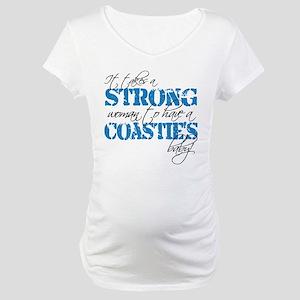 Strong woman (Coastie) Maternity T-Shirt