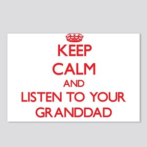 Keep Calm and Listen to your Granddad Postcards (P