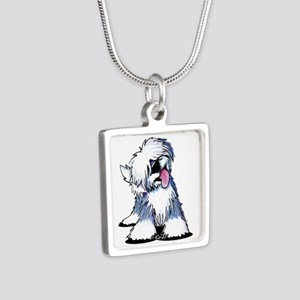 Curious OES Silver Square Necklace