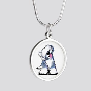 Curious OES Silver Round Necklace
