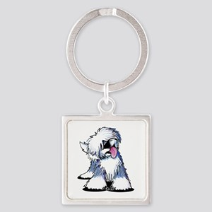Curious OES Square Keychain