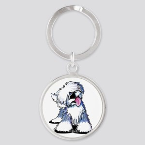 Curious OES Round Keychain