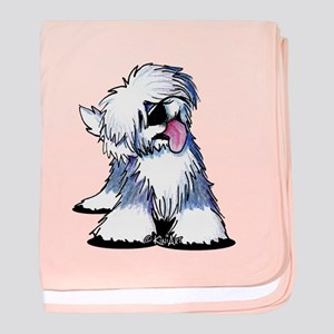 Curious OES baby blanket