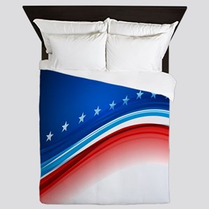 Abstract Stars and Stripes Queen Duvet