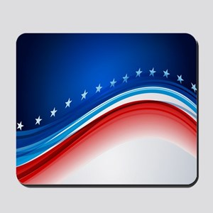 Abstract Stars and Stripes Mousepad