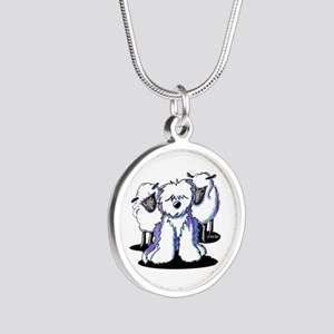 OES Sheepies Silver Round Necklace