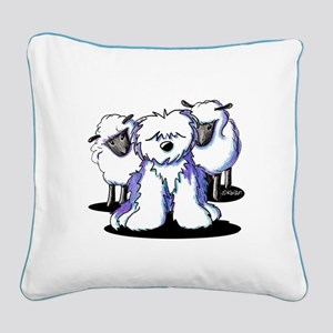 OES Sheepies Square Canvas Pillow