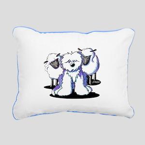 OES Sheepies Rectangular Canvas Pillow