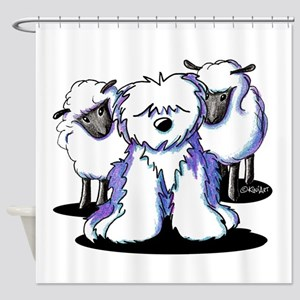 OES Sheepies Shower Curtain