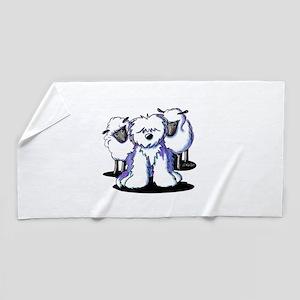 OES Sheepies Beach Towel