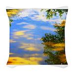 Fair weather Woven Throw Pillow