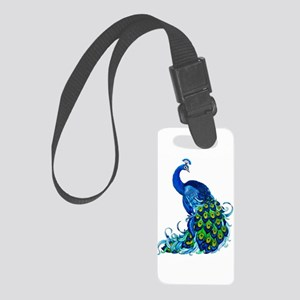 Beautiful Blue Peacock Luggage Tag