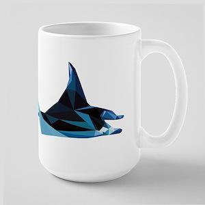 vector graphic polygon art manta Mugs