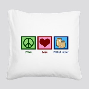 Peanut Butter Square Canvas Pillow