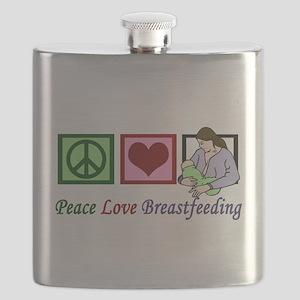 Peace Love Breastfeeding Flask