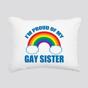 My Gay Sister Rectangular Canvas Pillow