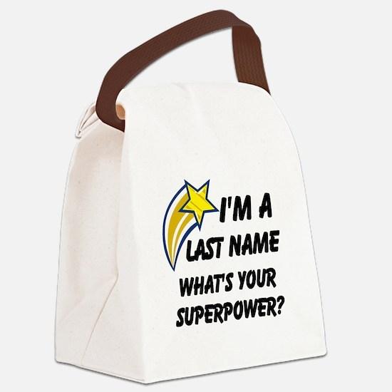 Cool Superhero Canvas Lunch Bag