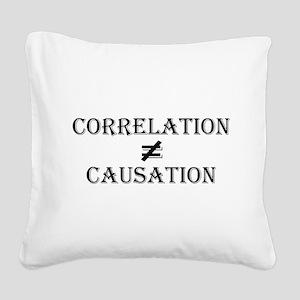 Correlation Causation Square Canvas Pillow