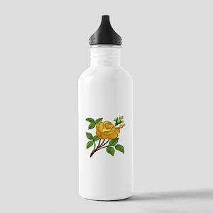Needlework Yellow Rose Stainless Water Bottle 1.0L