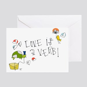 Love is a Verb Greeting Cards