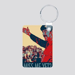 Saddam Hussein Miss Me Yet Aluminum Photo Keychain