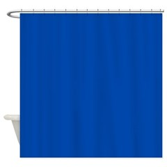 Solid Cobalt Blue Shower Curtain
