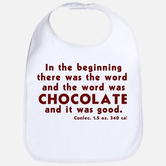Chocolate Word Bib